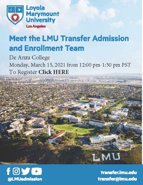 Transfer Representative Virtual Visit- Loyla Marymount University