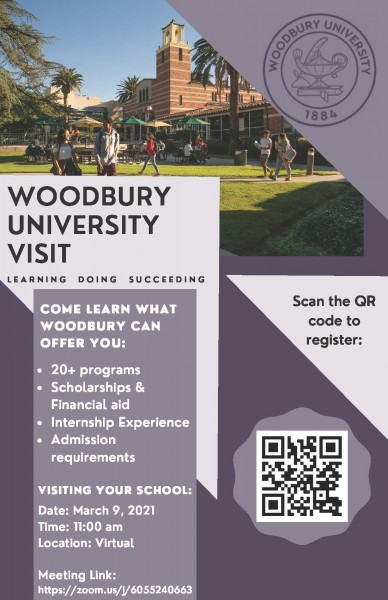 Transfer Representative Virtual Visit- Woodbury University