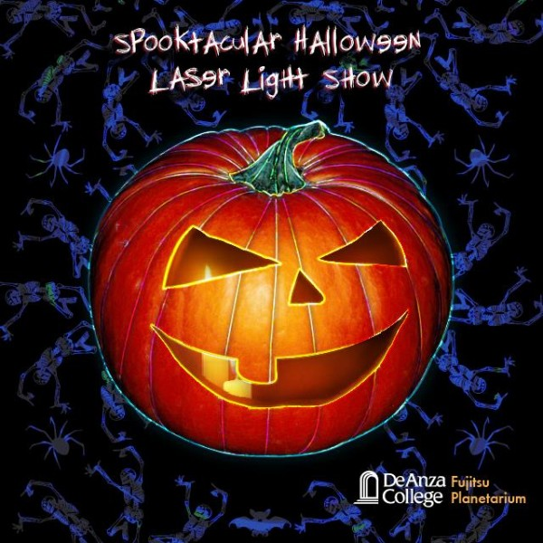 Laser Spooktacular Halloween laser light show will make laser images such as pumpkins